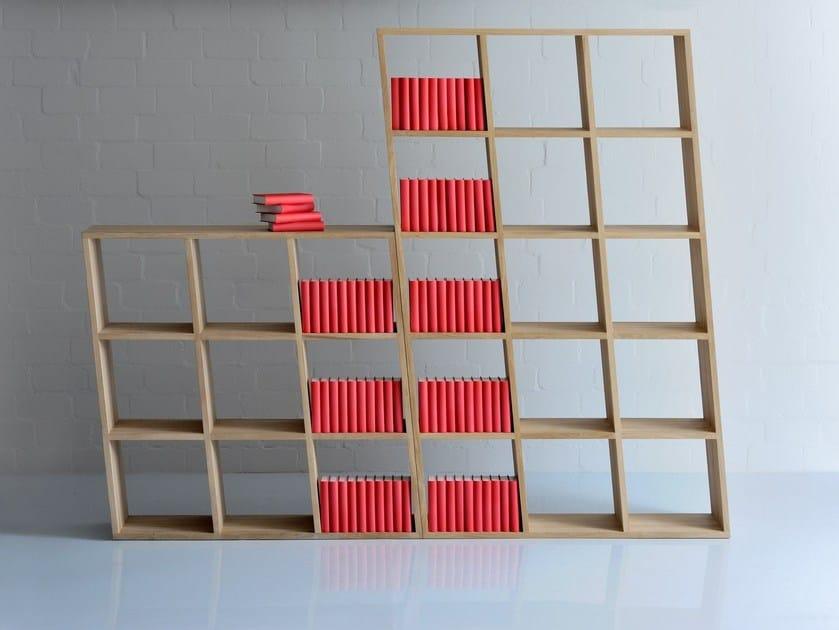 Solid wood bookcase PISA - vitamin design