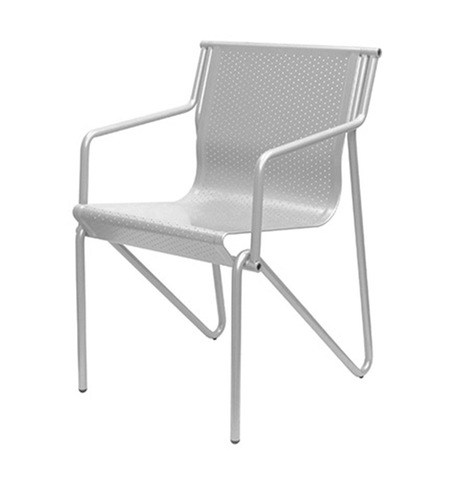 Steel chair with armrests PITAGORA | Chair with armrests - Caimi Brevetti
