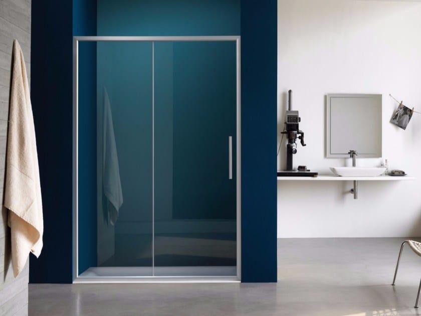Niche steel shower cabin with sliding door PIXEL | Shower cabin with sliding door - Samo