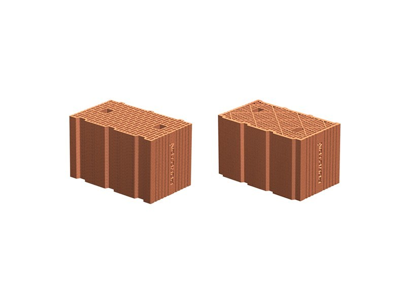 Loadbearing clay block PLAN blocks by Poroton