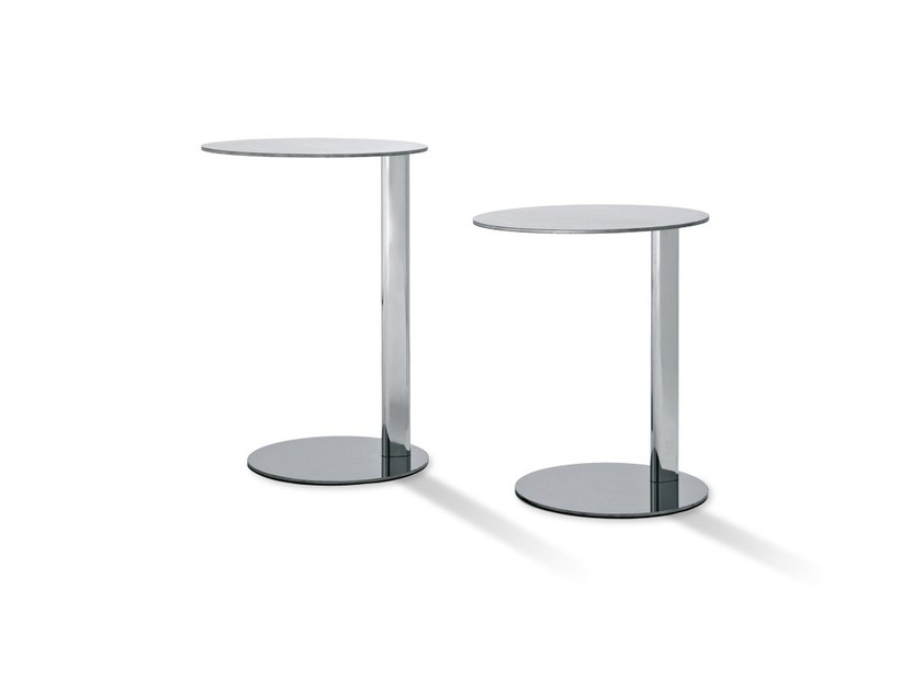 Stainless steel coffee table PLANET - Arketipo