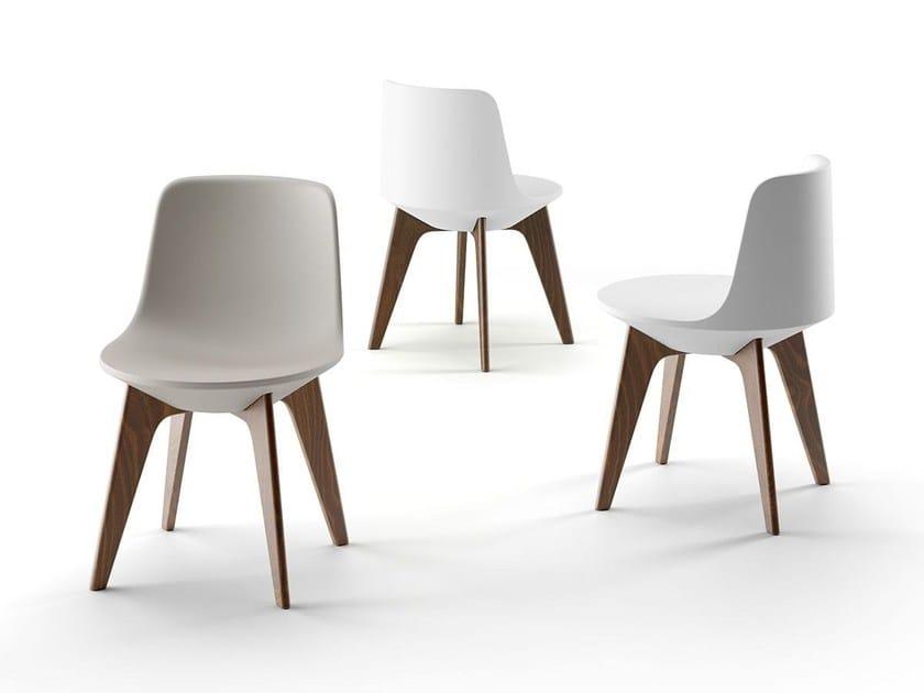 Polyethylene chair PLANET CHAIR by Plust