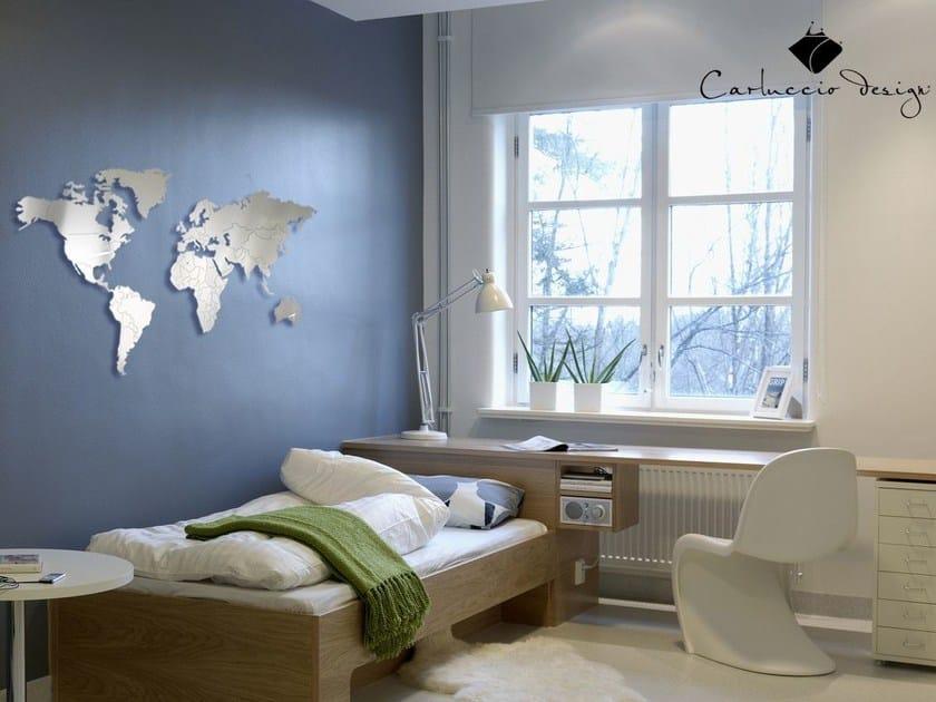 Contemporary style wall-mounted steel clock PLANISFERO S | Clock - Carluccio Design