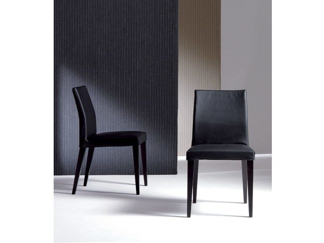 Upholstered leather chair PLANO | Leather chair by Marac