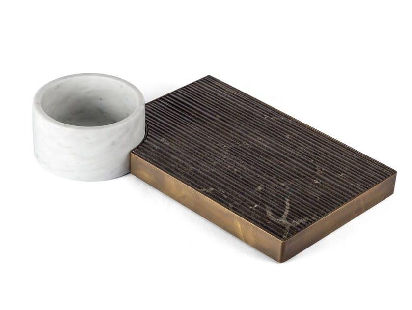 Natural stone tray / bowl PLAT-EAU Classic 02 by SALVATORI