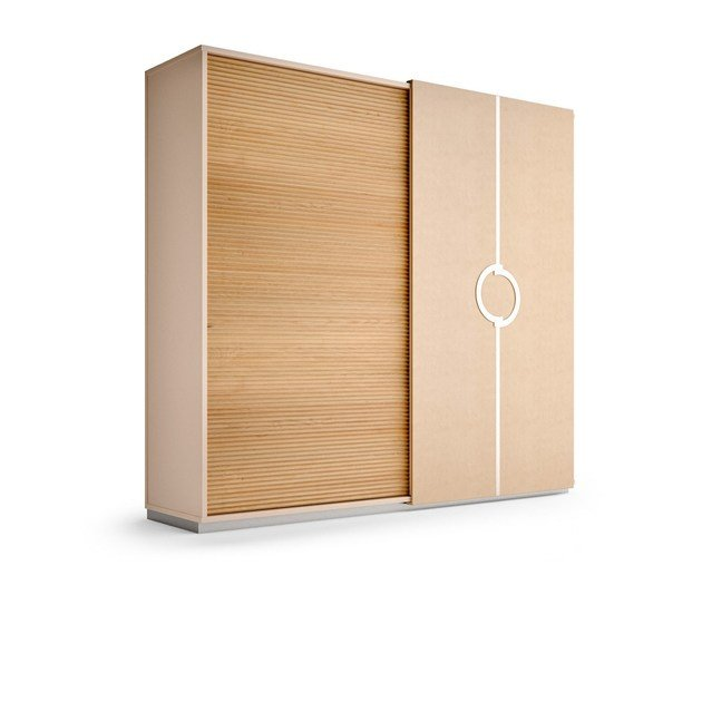 Contemporary style lacquered wooden wardrobe with sliding doors with drawers PLATEAU | Wardrobe with sliding doors - Caroti