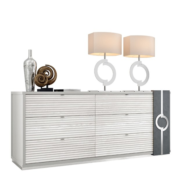 Contemporary style lacquered wooden dresser PLATEAU | Wooden dresser by Caroti