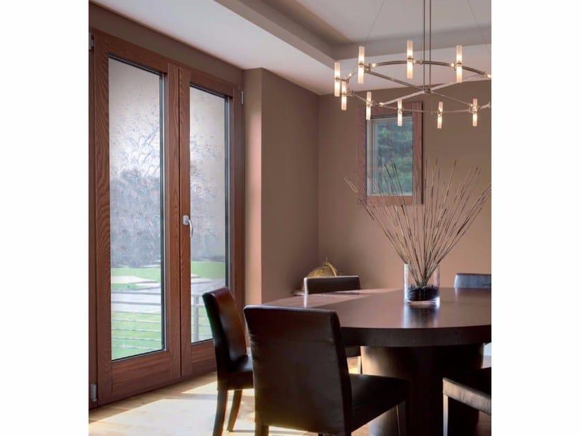 Wood and aluminium patio door PLATINUM 900 QUADRA 90° | Patio door - Cos.Met. F.lli Rubolino