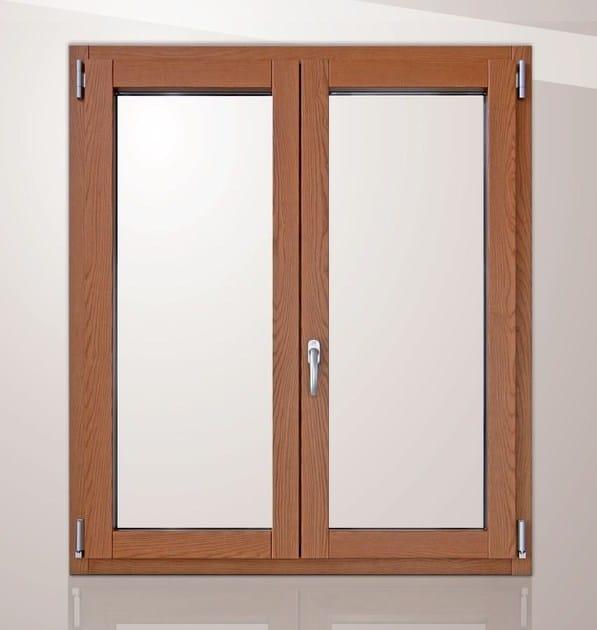 Finestra a battente in legno e alluminio con triplo vetro platinum 900 quadra 90 finestra con - Finestra mobile cos e ...