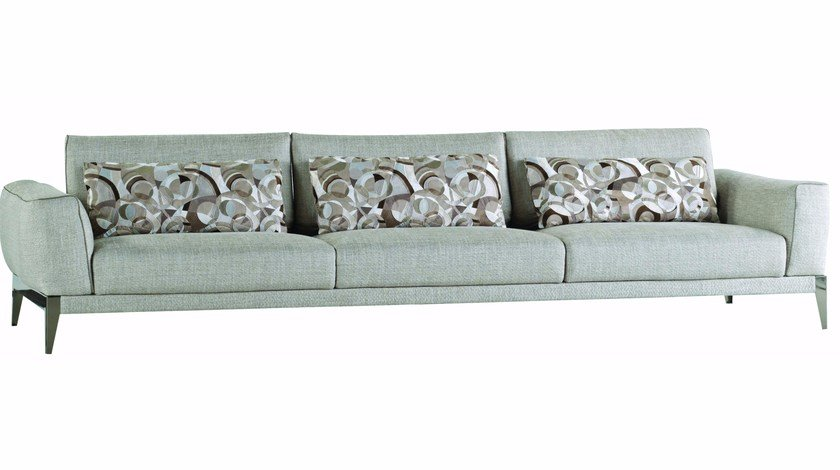 5 seater fabric sofa with removable cover PLAYER - ROCHE BOBOIS