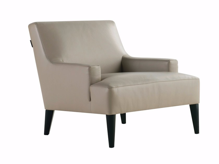 Leather armchair with armrests PLAYLIST | Armchair by ROCHE BOBOIS