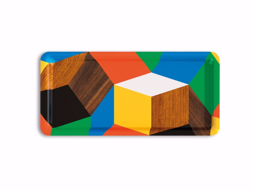 Rectangular multi-layer wood tray PENROSE THE PLAY WOOD - Bazartherapy