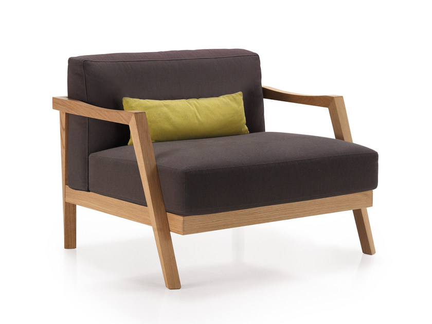 Fabric armchair with armrests PLAZA | Armchair - Oliver B.