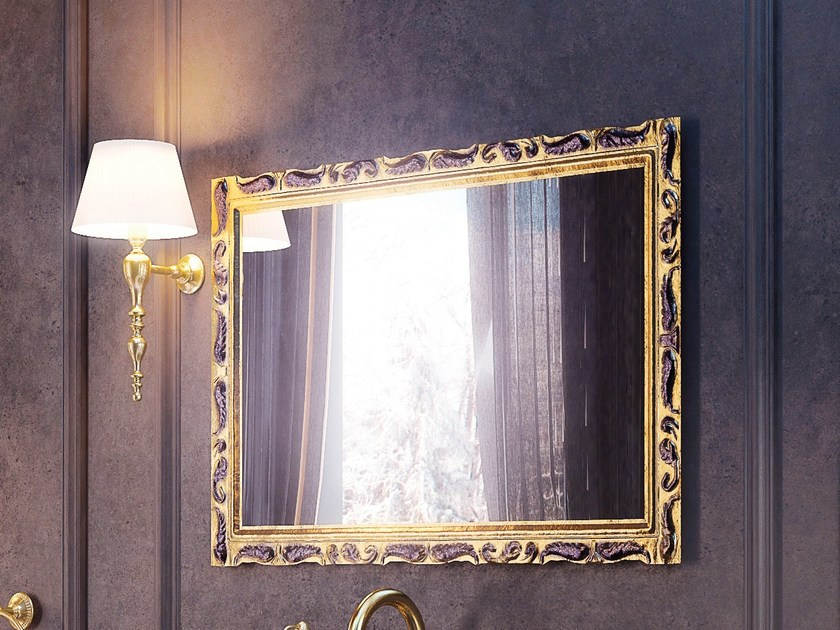 Wall-mounted framed bathroom mirror PLEIADI SET ONE | Mirror - LINEAG