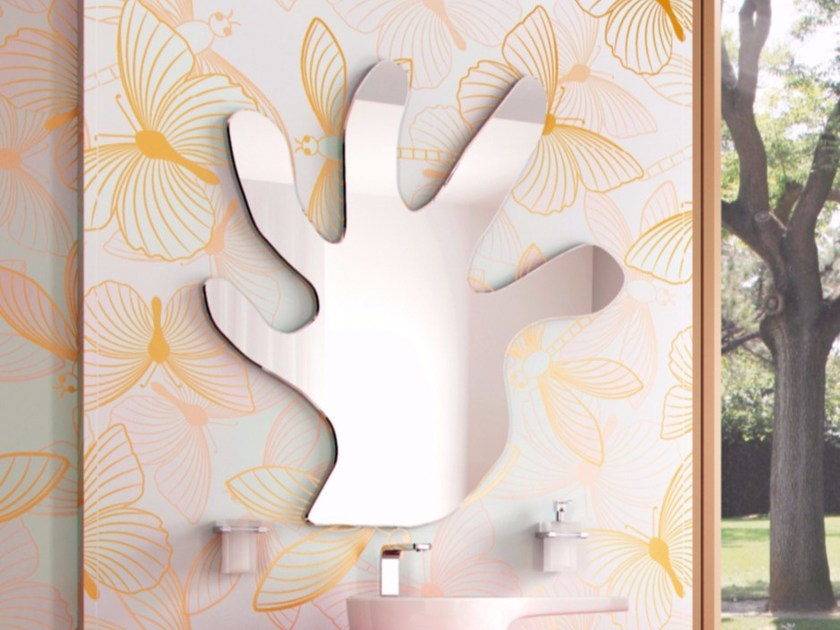 Wall-mounted bathroom mirror CHEF SET TWO | Mirror - LINEAG