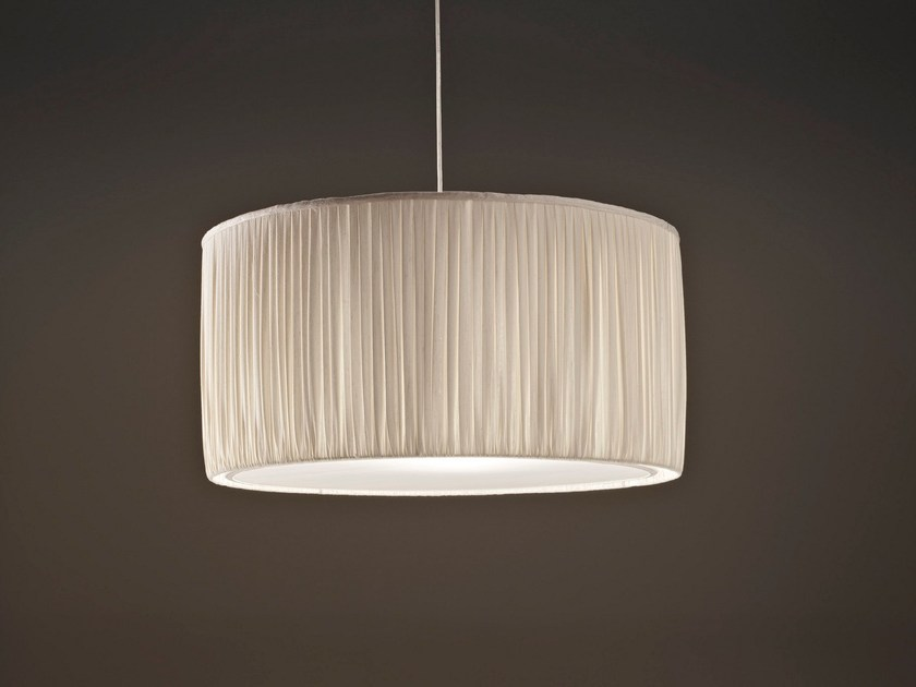 LED fabric pendant lamp PLISSÈ - Olev by CLM Illuminazione