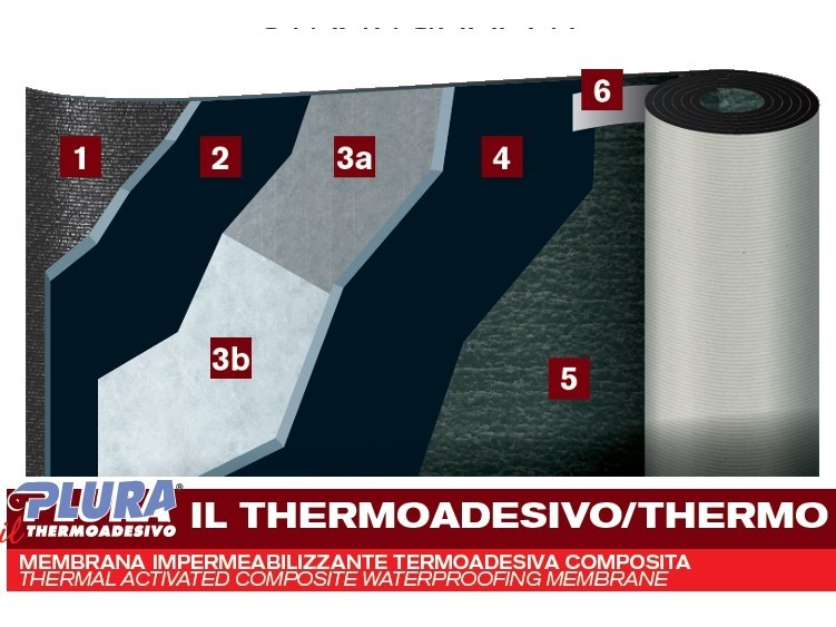 Prefabricated bituminous membrane PLURA THERMO AD - PLUVITEC