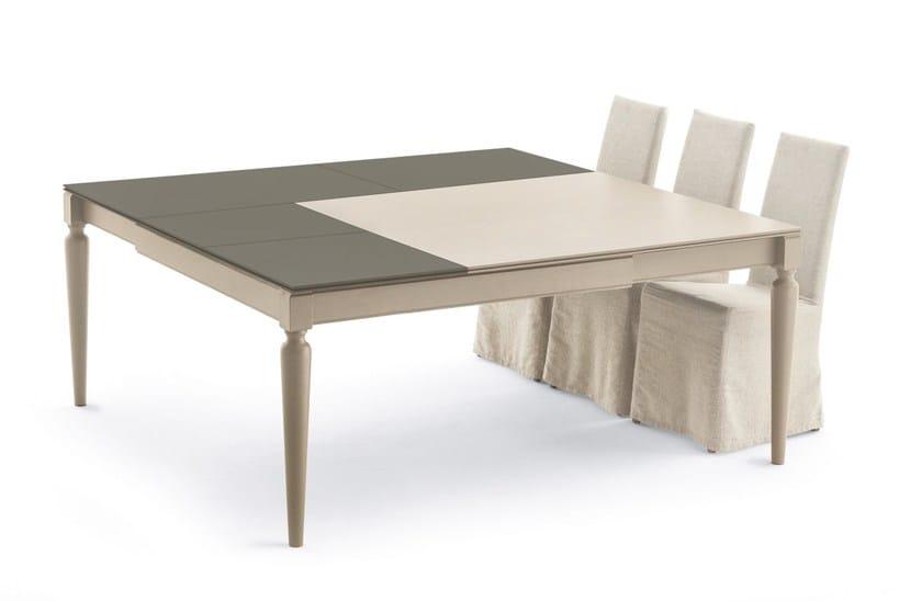 Tavolo allungabile quadrato in legno impiallacciato PLURIMO ...