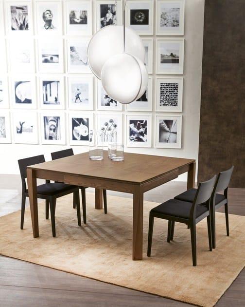 tavolo allungabile da salotto quadrato plurimo | tavolo in legno ... - Tavolo Soggiorno Quadrato Allungabile