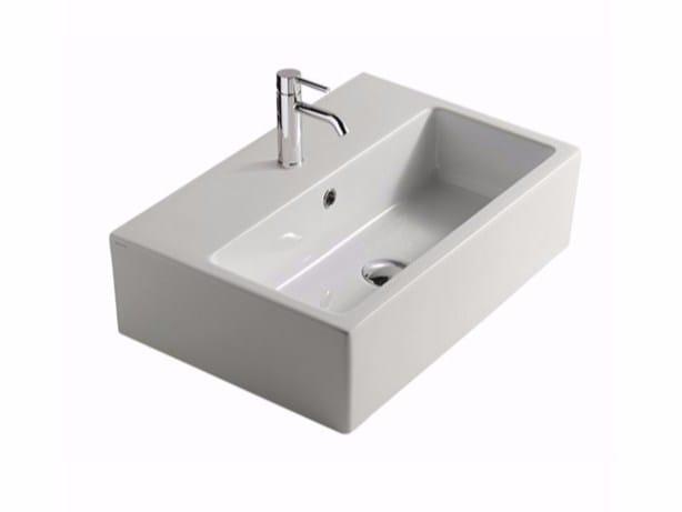 Countertop rectangular ceramic washbasin PLUS DESIGN 60 | Countertop washbasin - GALASSIA