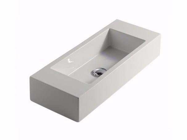 lavabo sobre encimera rectangular de cermica plus design lavabo sobre encimera by galassia