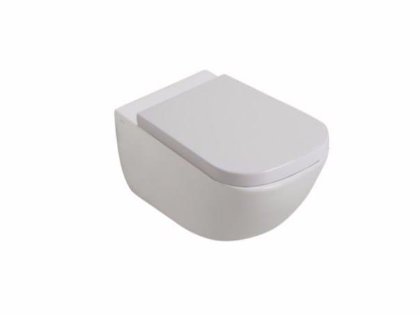 Wall-hung ceramic toilet PLUS DESIGN | Wall-hung toilet - GALASSIA