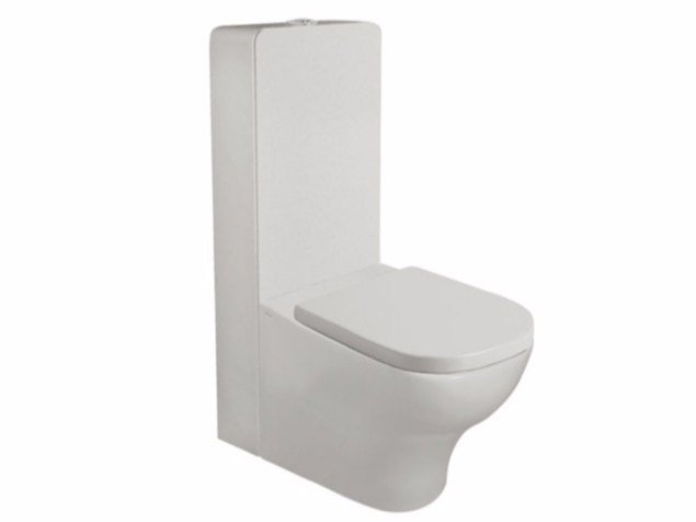 Close coupled ceramic toilet PLUS DESIGN | Close coupled toilet by GALASSIA