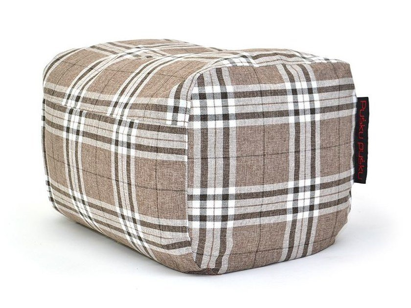 Upholstered pouf with removable lining PLUS HOME - Pusku pusku