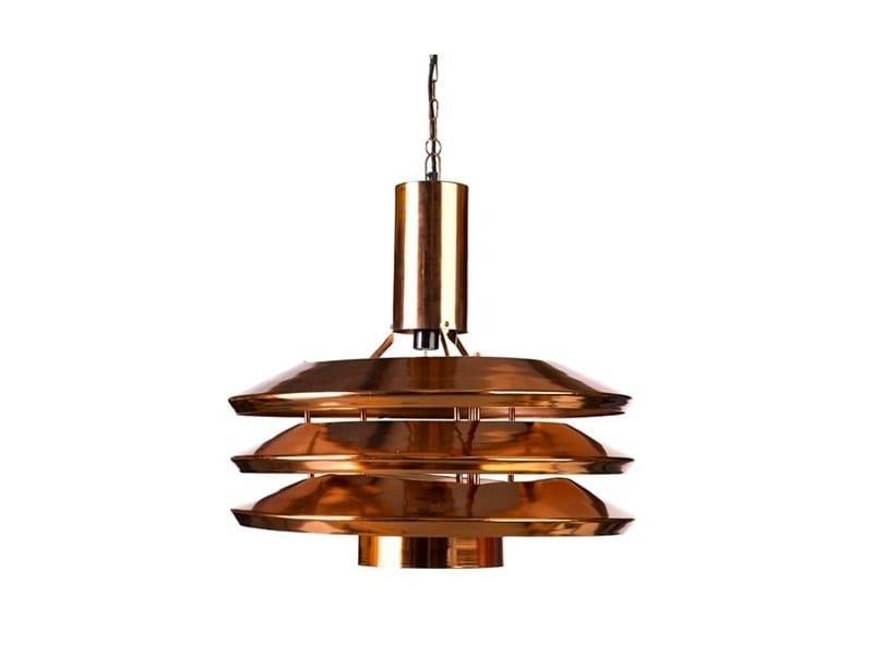 Steel pendant lamp PLUTO COPPER LARGE - Pols Potten