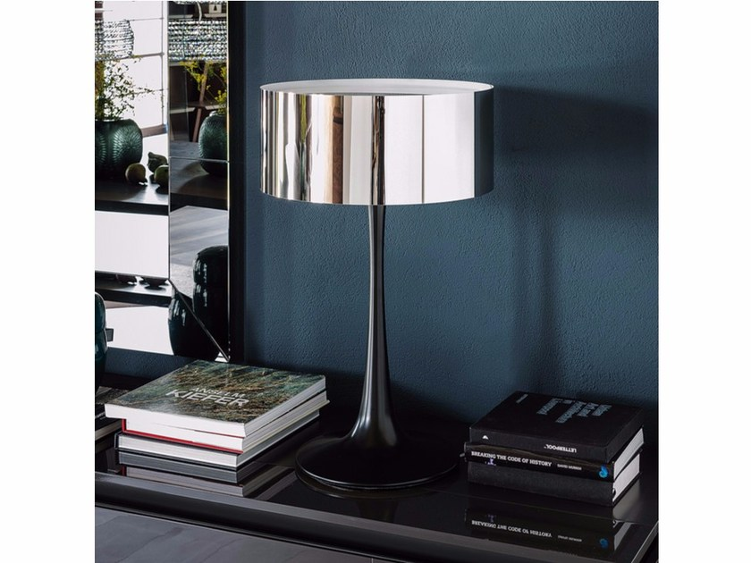 Stainless steel table lamp PLUTO - Cattelan Italia