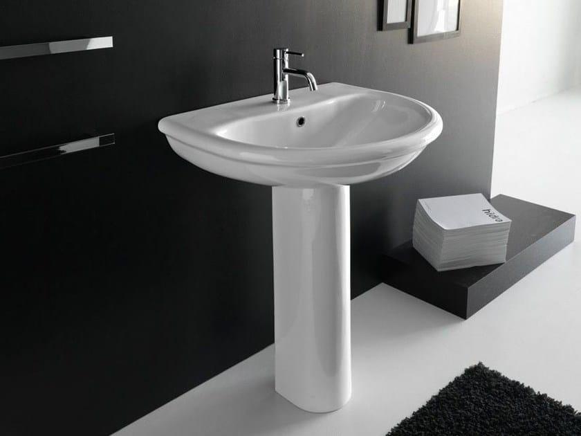 Single pedestal ceramic washbasin PLUVIA | Washbasin by Hidra Ceramica