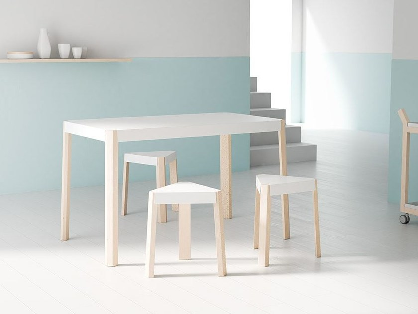 Rectangular wood-product table PODIO | Table by CANCIO