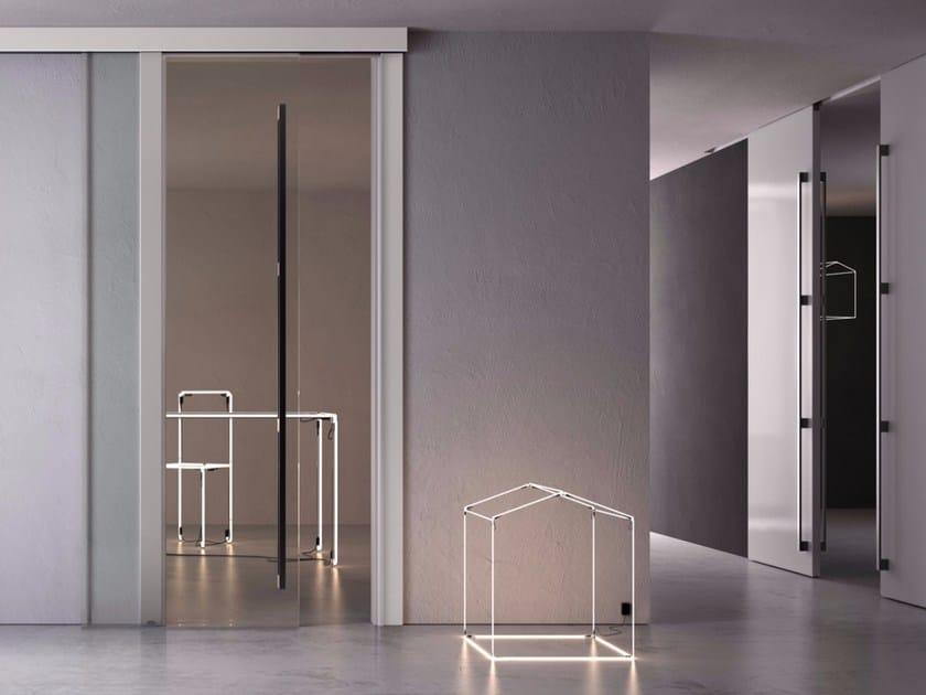 Glass sliding door POEMA | Sliding door - GAROFOLI