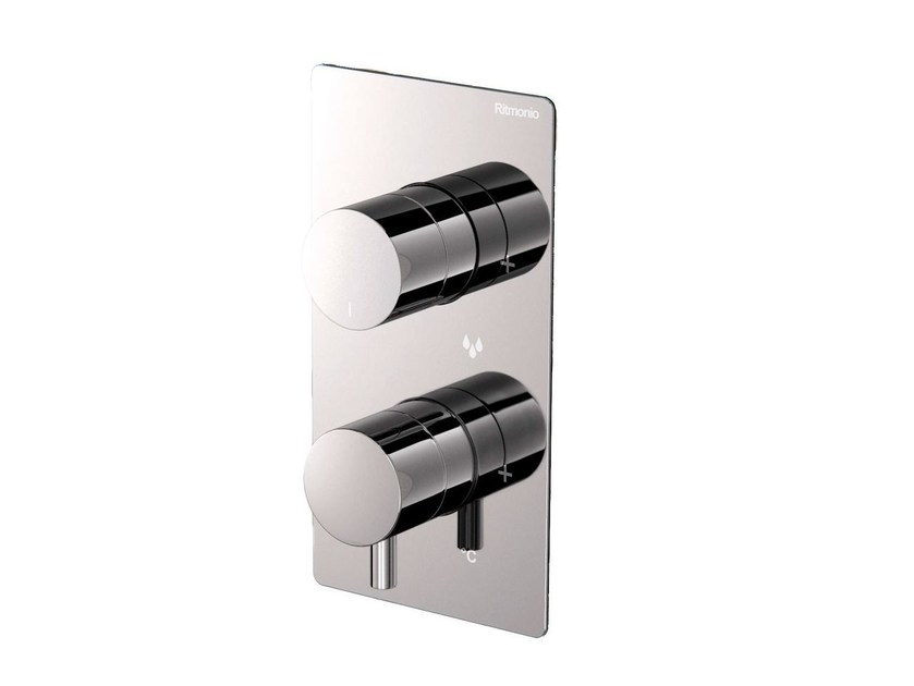 2 hole thermostatic shower mixer with plate POIS | 2 hole thermostatic shower mixer - RUBINETTERIE RITMONIO