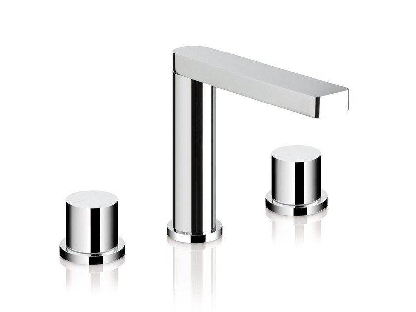 3 hole countertop washbasin mixer POIS | 3 hole washbasin mixer - RUBINETTERIE RITMONIO