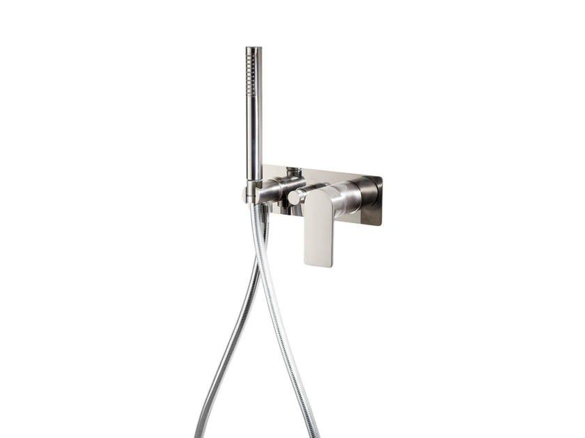 Wall-mounted bathtub mixer with hand shower POIS | Bathtub mixer - RUBINETTERIE RITMONIO