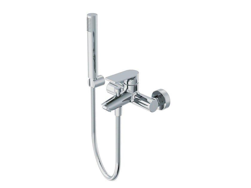 Bathtub mixer with hand shower with flexible hose POIS | Bathtub mixer with hand shower - RUBINETTERIE RITMONIO