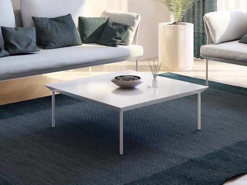 Square powder coated aluminium garden side table POISSY   Coffee table - iCarraro italian makers