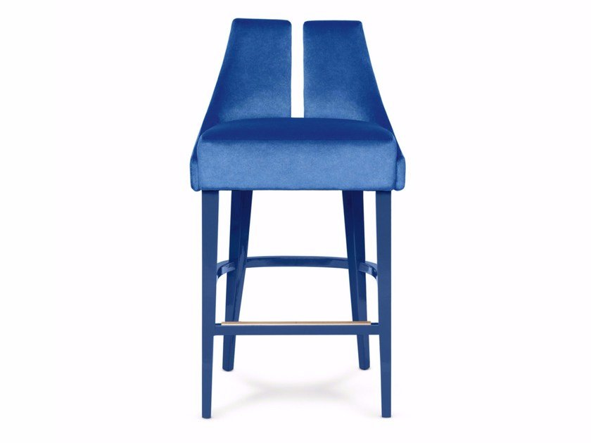 Fabric counter stool with footrest POLAIRE   Counter stool - Munna