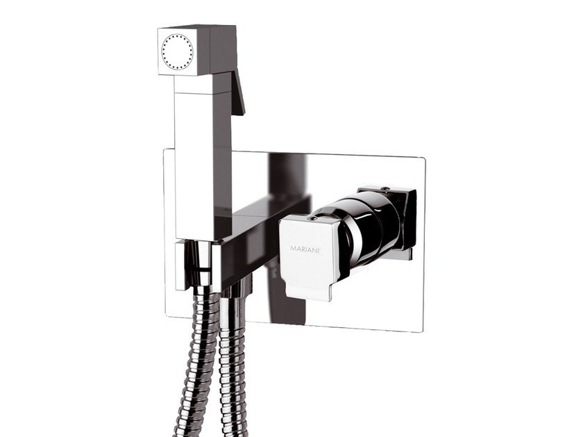 Chrome-plated shower mixer with hand shower POLAR | Shower mixer with hand shower - Rubinetterie Mariani