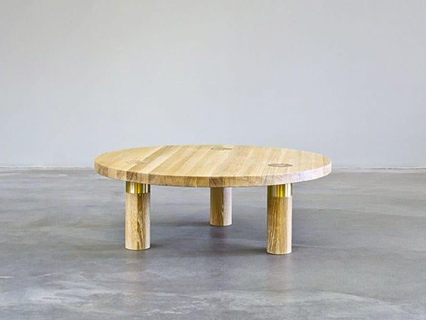 Tavolino rotondo in legno POLE TABLE | Tavolino - MORGEN Interiors