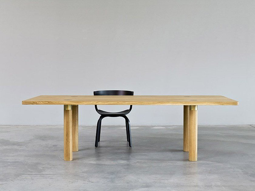 Rectangular wooden table POLE TABLE | Table - MORGEN Interiors