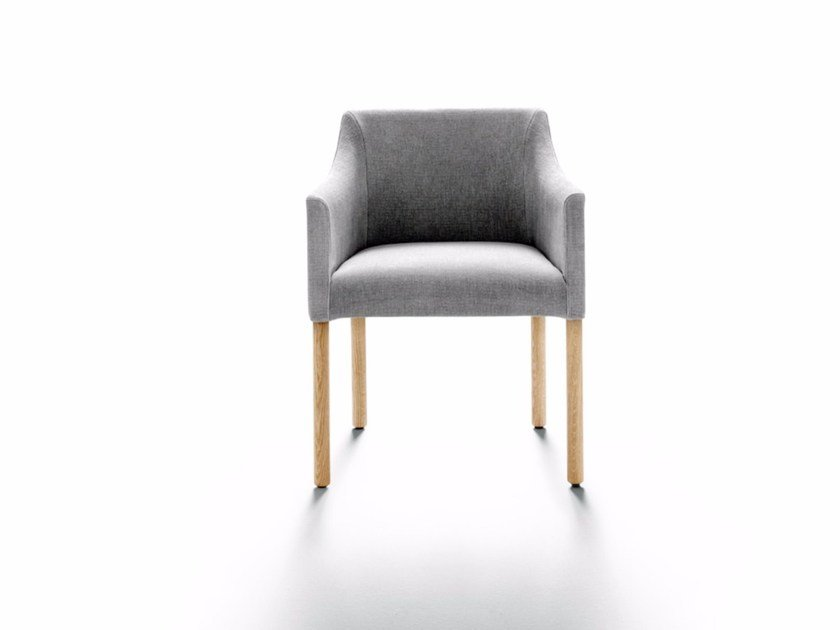 Easy chair with removable cover with armrests POLLACK - DE PADOVA