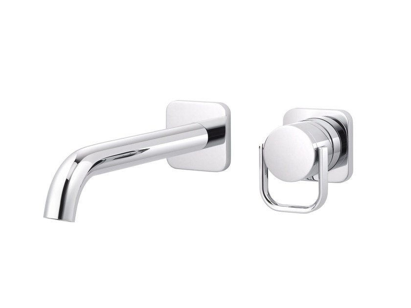 2 hole wall-mounted single handle washbasin mixer POLO CLUB | Wall-mounted washbasin mixer - rvb