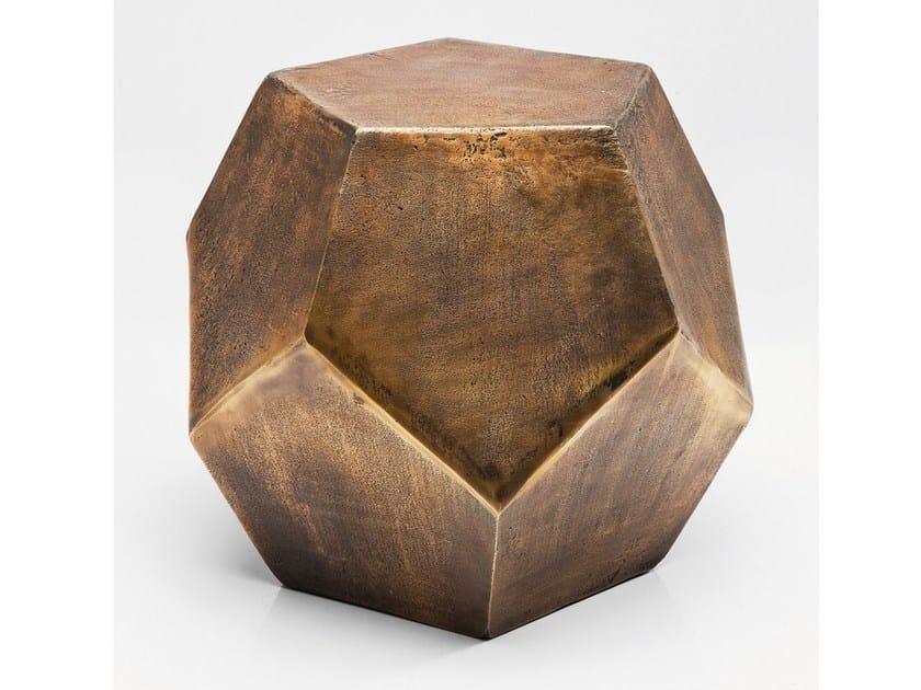 Aluminium coffee table POLYGON COPPER - KARE-DESIGN