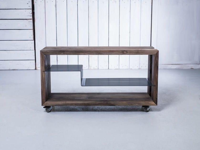 Solid wood trolley HI-FI RACK - HOOKL und STOOL