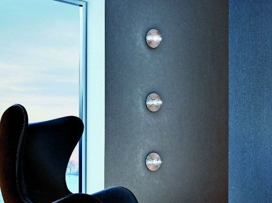 Direct light halogen chrome plated wall lamp POMOLUX PL P by Vetreria Vistosi