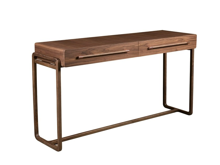 Rectangular console table with drawers PONTA RUIVA - Branco sobre Branco