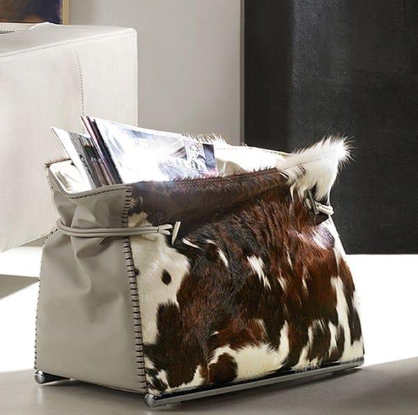 Contemporary style leather magazine rack PONY   Leather magazine rack - ITALY DREAM DESIGN - Kallisté