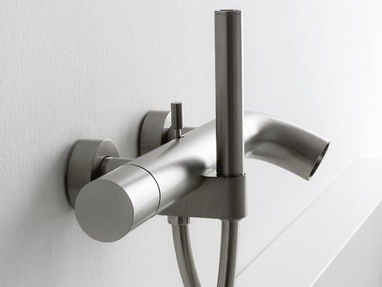 Wall-mounted bathtub mixer with diverter with hand shower POP   Bathtub mixer - ZAZZERI